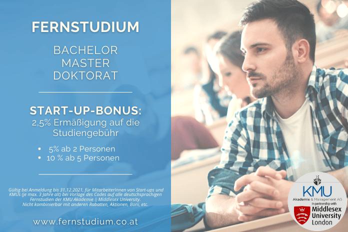 START-UP-BONUS: fernstudium.co.at KMU Akademie | Middlesex University