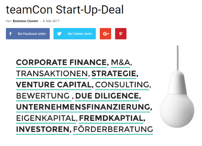 Start-up-Deal Beispiel 3