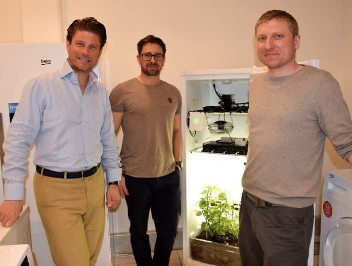 Philipp Breitenecker (Beko), Markus Riegler (microgreenbox) und Alexander Polivka (microgreenbox).